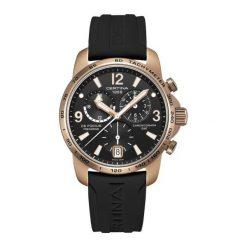 PROMOCJA ZEGAREK CERTINA DS Podium Chrono GMT Aluminium C001.639.97. Czarne zegarki męskie CERTINA, złote. W wyprzedaży za 2283,60 zł.