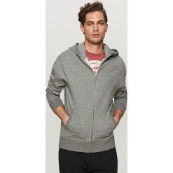 Bluza dresowa z kapturem - Szary. Czarne bluzy dresowe męskie marki Cropp, l, z nadrukiem. W wyprzedaży za 79,99 zł.