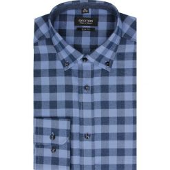 Koszula bexley f2504 długi rękaw slim fit granatowy. Niebieskie koszule męskie jeansowe marki Recman, m, z aplikacjami, button down, z długim rękawem. Za 99,99 zł.