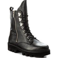 Buty zimowe damskie: Trapery BRONX – 47000-A BX 1435 Black/Silver 187