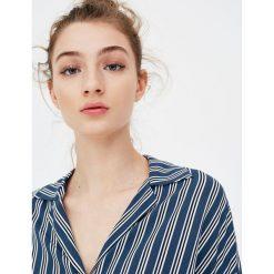 Koszule damskie: Koszula w paski z kołnierzem z klapami