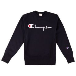 Bejsbolówki męskie: CHAMPION Bluza męska Crewneck Sweatshirt Black r. XL (212576/KK001)