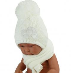 Czapka niemowlęca z szalikiem CZ+S 004C. Szare czapeczki niemowlęce Proman. Za 40,78 zł.