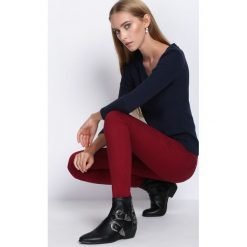 Spodnie damskie: Bordowe Spodnie Autumn Air