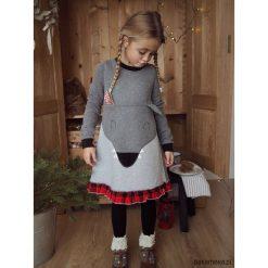 Sukienka bluza dresowa Wilk. Brązowe bluzy dziewczęce rozpinane Pakamera, z bawełny. Za 119,00 zł.