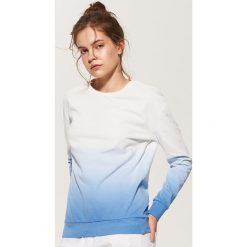 Bluzy damskie: Bluza ombre – Granatowy