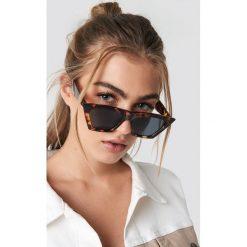 NA-KD Accessories Okulary przeciwsłoneczne kocie oczy - Brown. Brązowe okulary przeciwsłoneczne damskie aviatory NA-KD Accessories. Za 60,95 zł.
