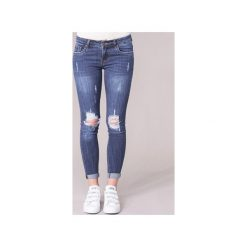 Jeansy slim fit Yurban  IFOUNOLE. Niebieskie jeansy damskie relaxed fit marki Sinsay, z podwyższonym stanem. Za 134,10 zł.