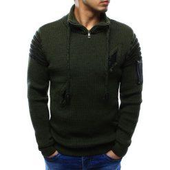 Swetry rozpinane męskie: Sweter męski zielony (wx0946)