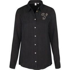 Topy sportowe damskie: Bluzka- Comfort fit – w kolorze czarnym