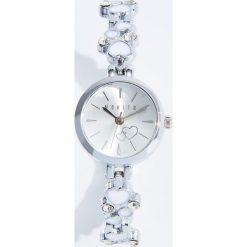 Zegarki damskie: Zegarek z ozdobną bransoletą - Srebrny