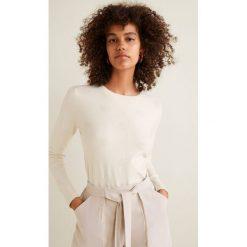 Mango - Sweter Puntoray. Szare swetry klasyczne damskie marki Mango, m, z dzianiny, z okrągłym kołnierzem. W wyprzedaży za 69,90 zł.