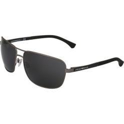 Emporio Armani Okulary przeciwsłoneczne gunmetal. Szare okulary przeciwsłoneczne męskie aviatory Emporio Armani. Za 579,00 zł.