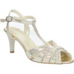 Beżowe sandały skórzane t-bar Casu 323. Brązowe sandały damskie Casu. Za 189,99 zł.