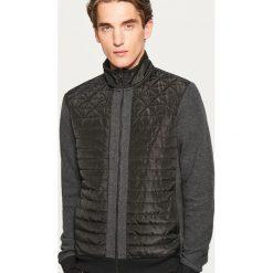 Bluza z pikowanym przodem - Czarny. Czarne bluzy męskie rozpinane Reserved, l. Za 99,99 zł.