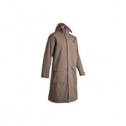 Płaszcz jeździecki nieprzemakalny Sentier brązowy. Brązowe płaszcze na zamek męskie FOUGANZA, xl, z materiału. Za 349,99 zł.
