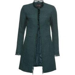 Płaszcz boucle bonprix głęboki zielony. Zielone płaszcze damskie bonprix, z haftami. Za 139,99 zł.