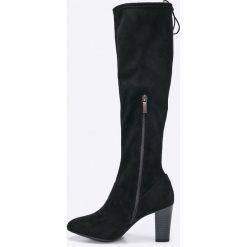 Tamaris - Kozaki. Szare buty zimowe damskie marki Tamaris, z materiału, na sznurówki. W wyprzedaży za 159,90 zł.