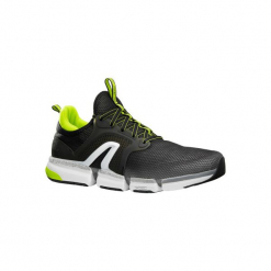 Buty męskie do szybkiego marszu PW 590 Xtense szare/żółte. Czarne buty fitness męskie marki NEWFEEL, z gumy. Za 199,99 zł.