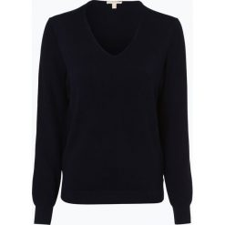 Esprit Casual - Sweter damski, niebieski. Niebieskie swetry klasyczne damskie Esprit Casual, l, prążkowane, z kontrastowym kołnierzykiem. Za 119,95 zł.
