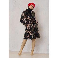 Płaszcze damskie pastelowe: NA-KD Trend Płaszcz moro Teddy - Multicolor