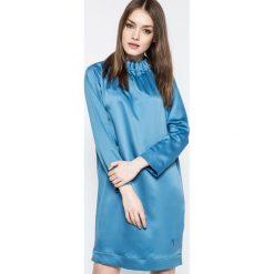 Trussardi Jeans - Sukienka. Niebieskie sukienki mini Trussardi Jeans, na co dzień, z jeansu, casualowe. W wyprzedaży za 429,90 zł.
