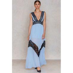 Długie sukienki: True Decadence Długa sukienka z koronkami - Blue,Multicolor