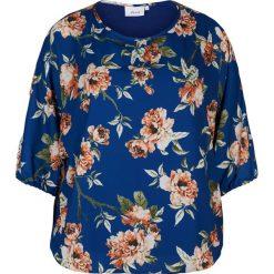 Bluzki asymetryczne: Bluzka z okrągłym dekoltem, gładka, krótki rękaw