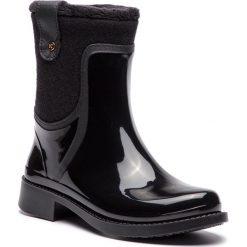 Kalosze KAZAR - Elvira 34809-TS-00 Black. Czarne buty zimowe damskie Kazar, z materiału, przed kolano. Za 399,00 zł.