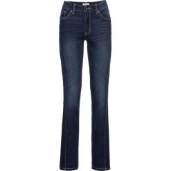 Miękkie dżinsy ze stretchem STRAIGHT bonprix ciemnoniebieski. Niebieskie jeansy damskie marki bonprix. Za 79,99 zł.