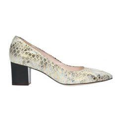 Buty ślubne damskie: Czółenka w kolorze kremowym