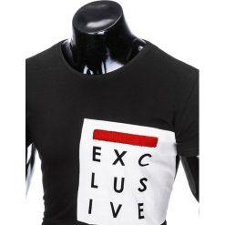 T-SHIRT MĘSKI Z NADRUKIEM S882 - CZARNY. Czarne t-shirty męskie z nadrukiem marki Ombre Clothing, m. Za 19,99 zł.
