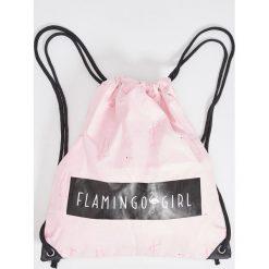 Plecaki damskie: Plecak worek – Różowy