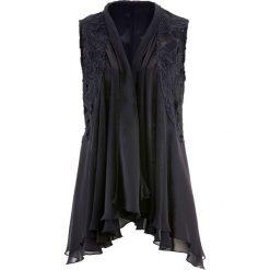 Kamizelka bluzkowa z koronką bonprix czarny. Czarne kamizelki damskie bonprix, z koronki. Za 129,99 zł.