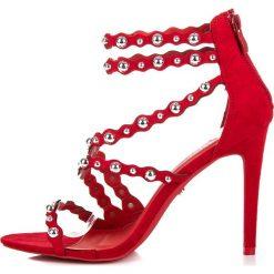 Sandały szpilki zapinane na suwak JAYDEN. Czerwone sandały damskie SEASTAR, na szpilce. Za 119,00 zł.