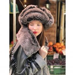 Czarna czapka zimowa. Fioletowe czapki zimowe damskie marki Reserved. Za 180,00 zł.