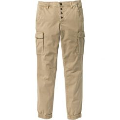 Bojówki męskie: Spodnie bojówki ze stretchem Slim Fit Straight bonprix beżowy