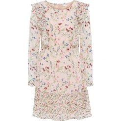 Sukienki: Sukienka szyfonowa bonprix bladoróżowy w kwiaty