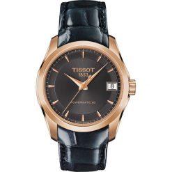 RABAT ZEGAREK TISSOT Couturier Automatic Lady T035.207.36.061.00. Czarne zegarki damskie TISSOT, ze stali. W wyprzedaży za 2420,00 zł.