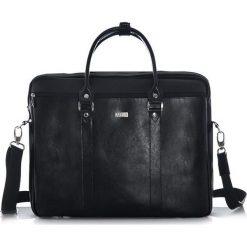 Torba Solier Skórzana torba na ramię laptopa Solier MARCEL czarna. Czarne torby na laptopa marki Solier. Za 380,93 zł.