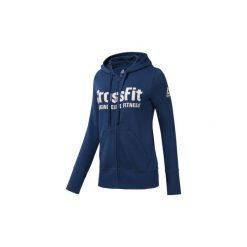 Bluzy Reebok Sport  Bluza z kapturem  CrossFit Full Zip. Niebieskie bluzy sportowe damskie Reebok Sport, s, z kapturem. Za 279,00 zł.