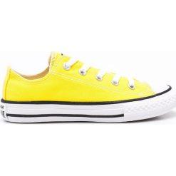 Converse - Tenisówki dziecięce. Białe buty sportowe dziewczęce Converse, z gumy. W wyprzedaży za 129,90 zł.