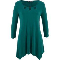 Tunika shirtowa, rękawy 3/4 bonprix zielony głęboki. Zielone tuniki damskie bonprix. Za 89,99 zł.
