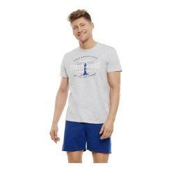Piżama Echo 35737-09X Popielato-niebieska. Szare piżamy męskie marki Henderson. Za 83,50 zł.
