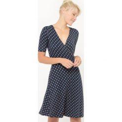 Sukienki: Sukienka kopertówka we wzór ze statkami