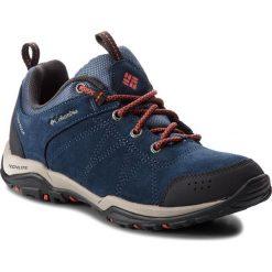 Trekkingi COLUMBIA - Fire Venture Low Suede Waterproof BL1715 Zinc/Red Canyon 492. Niebieskie buty trekkingowe damskie Columbia. W wyprzedaży za 309,00 zł.