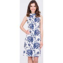 Sukienki: Żakardowa sukienka w kwiaty QUIOSQUE
