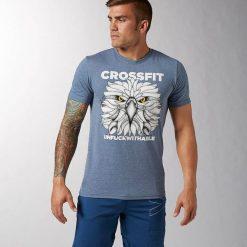 Reebok Koszulka męska Crossfit Graphic Tee szara r. XXL (B87224). Szare topy sportowe damskie marki Reebok, l, z dzianiny, casualowe, z okrągłym kołnierzem. Za 81,00 zł.