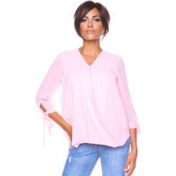 """Bluzki damskie: Koszulka """"Rose"""" w kolorze jasnoróżowym"""
