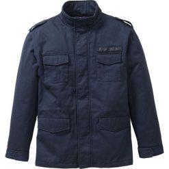 Kurtka z nadrukiem z tyłu Regular Fit bonprix ciemnoniebieski. Niebieskie kurtki męskie bonprix, m, z nadrukiem. Za 169,99 zł.